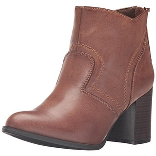 CL by Laundry Womens Baya Booties Faux Leather Stacked