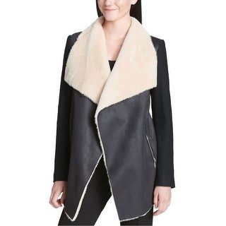 Calvin Klein Womens Faux-Fur Jacket
