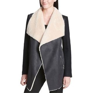 Link to Calvin Klein Womens Faux-Fur Jacket, black, Small Similar Items in Women's Outerwear