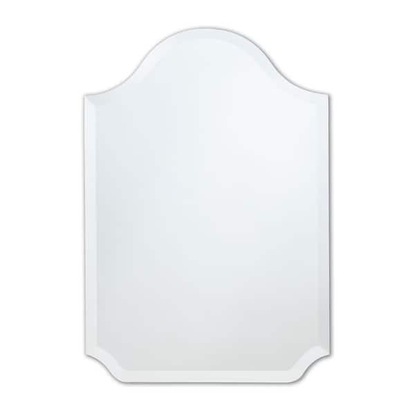 Shop Frameless 22 X 32 Bell Top Beveled Wall Mirror Clear Overstock 20222975