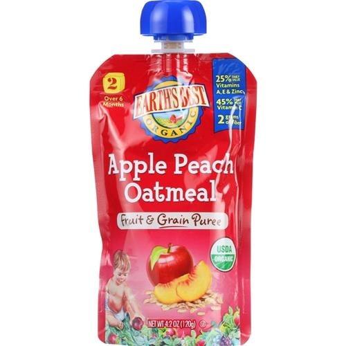 Earth's Best - Organic Apple Peach Oatmeal Puree ( 12 - 4.2 OZ)