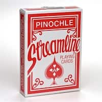 Brybelly GUSP-1001 Streamline Pinochle, 12 Decks RedBlue