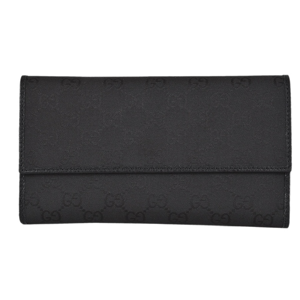 Gucci 257303 Black Nylon GG Guccissima Wallet W/Coin Pocket
