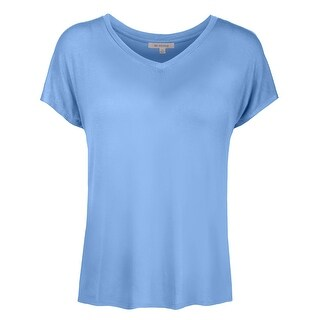 NE PEOPLE Womens Basic Dolman Short Sleeve V-neck T-Shirts -NEWT343