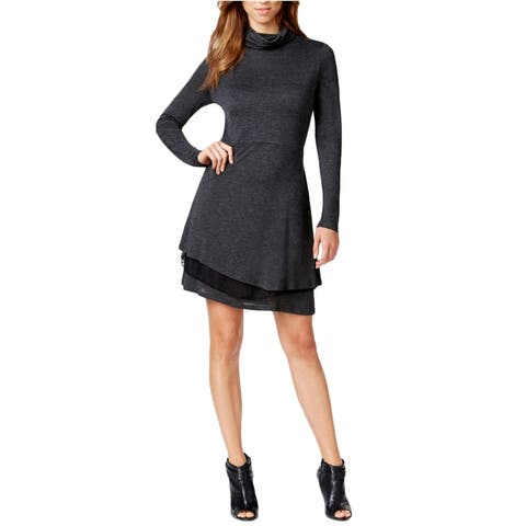 Kensie Womens Layered A-Line Dress