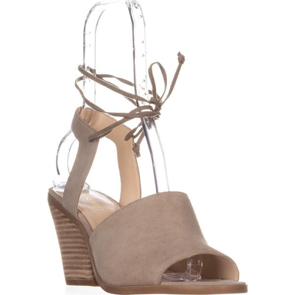 Nine West Yanka Lace Ankle Strap Sandals, Taupe