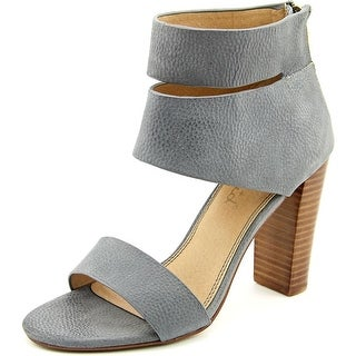 Splendid Jessa Women Open Toe Leather Gray Sandals