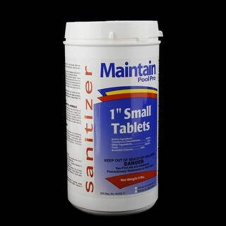 "Maintain Pool Pro Sanitizer Concentrated Stabilized Chlorinating 1"" Small Tablets 5lbs"