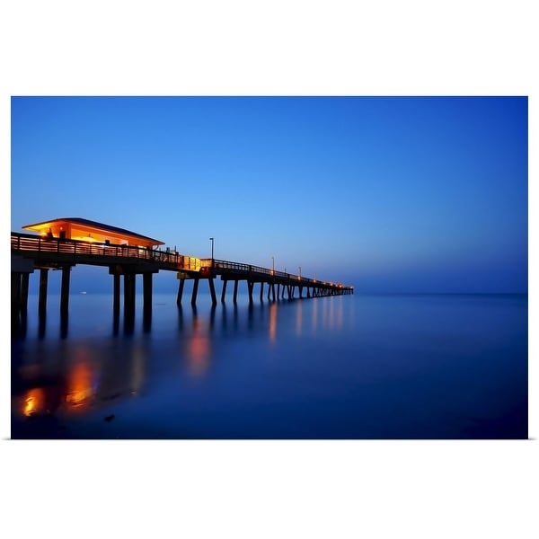 """Sunrise at dania beach park, South Florida"" Poster Print"