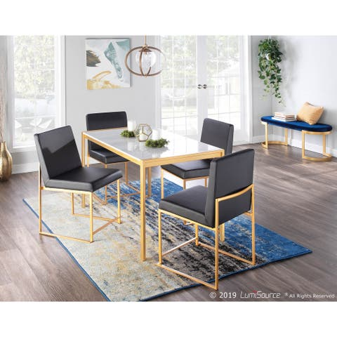 Fuji Gold High Back Dining Chair - Set of 2 - N/A