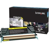Lexmark C748H4YG Lexmark Toner Cartridge - Yellow - Laser - High Yield - 10000 Page - 1 Each
