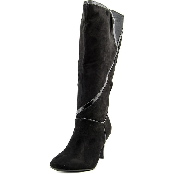 Karen Scott Mailaa Wide Calf Women Round Toe Synthetic Black Knee High Boot