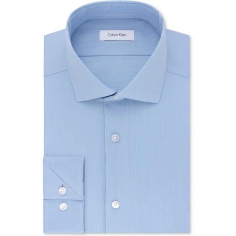 Calvin Klein Mens Big & Tall Button-Down Shirt Professional Business