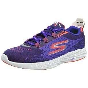 Skechers Men's GOrun 5 Running Shoe,Blue/Orange,US 8 M