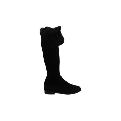 Stuart Weitzman Womens Thighscraper Suede Closed Toe Over Knee Fashion Boots - 5