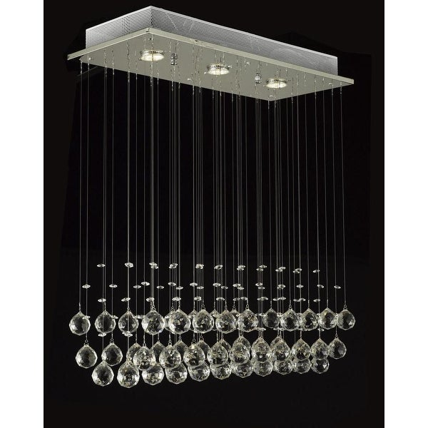 Modern Crystal Ball Chandelier Raindrop Light Lighting Fixture