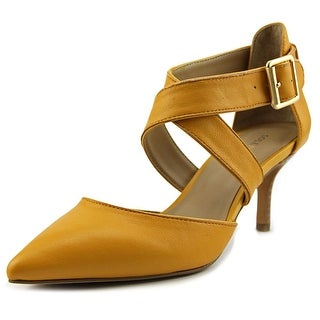 Sole Society Tamra Pointed Toe Leather Heels