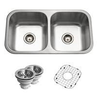 "Houzer BSD-3209 Belleo 32"" Drop In Double Basin Stainless Steel Kitchen Sink - Stainless Steel - N/A"