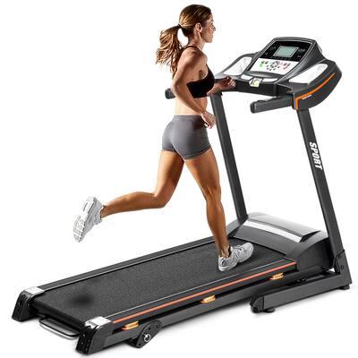 Incline Folding Electric Treadmill - 60 L x 26.7 W x 50 H inches