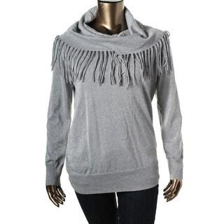 MICHAEL Michael Kors Womens Knit Metallic Pullover Sweater - XL