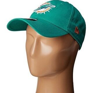 New Era Mens Miami Dolphins Core Classic 9TWENTY Adjustable Hat, Aqua