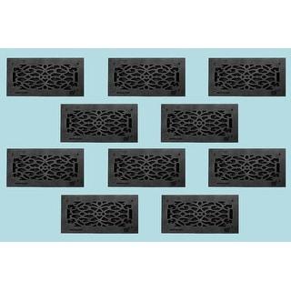 10 Floor Heat Register Louver Vent Victorian Cast 6 x 14 Duct