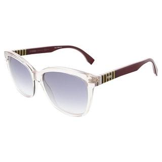 Fendi FF0054S 0MQX Grey/Penguin Burgundy Butterfly sunglasses