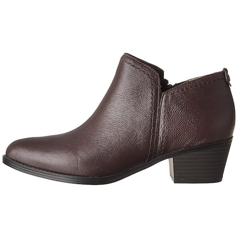 Naturalizer Womens Zarie Leather Almond Toe Ankle Fashion Boots