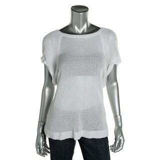 Rag & Bone Womens Open Stitch Cap Sleeves Pullover Top - XS