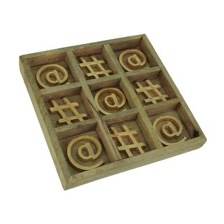 Metallic Gold At Symbol and Hashtag Sign Tic Tac Toe Board Game
