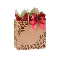"Pack Of 250, Filly 13 x 7 x 13"" Tuscan Harvest Shopping Bags Made In Usa"