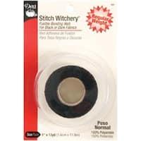 "1""X13yd - Stitch Witchery Fusible Bonding Web Regular Weight - Black"