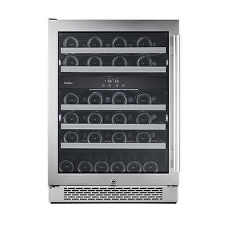 Avallon AWC241DZLH 24 Inch Wide 46 Bottle Capacity Dual Zone Wine Cooler with Left Swing Door