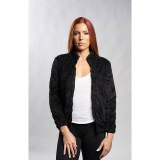 Black Cozy Zip Up Jacket