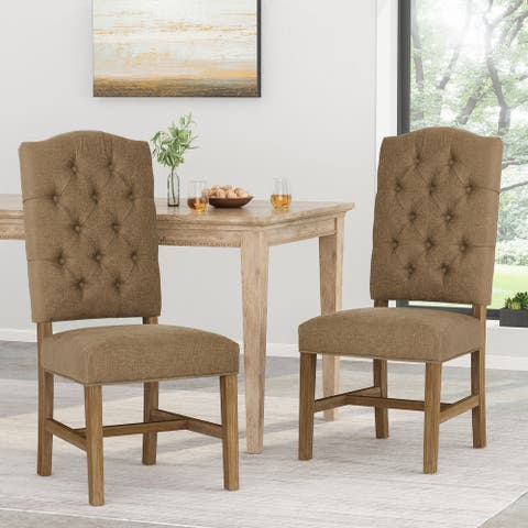 Hyvonen Tufted Dining Chairs by Christopher Knight Home