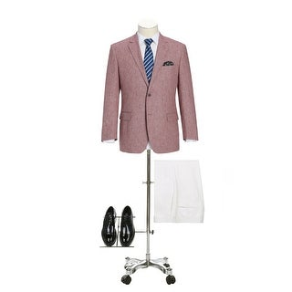 Link to Men's Classic Fit Blazer Linen Cotton Sport Coat for Summer Similar Items in Sportcoats & Blazers