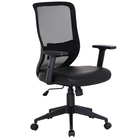 VECELO Office Chairs PU Cushion Adjustable Swivel Mesh Desk Chairs