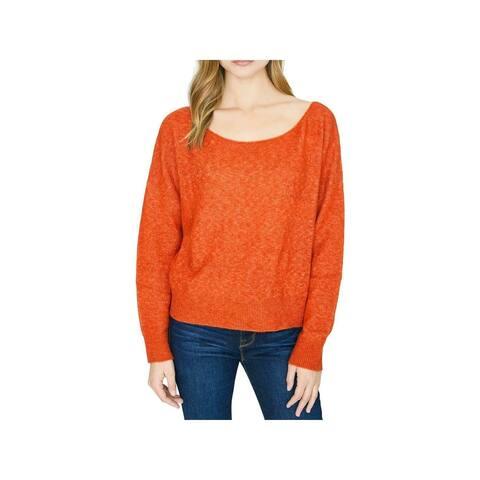 SANCTUARY Womens Orange Long Sleeve Scoop Neck Sweater Size XS