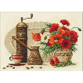 "Riolis Diamond Mosaic Embroidery Kit 15""X10.75""-Coffee"