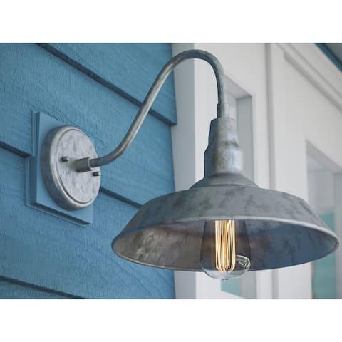 "Hoffman 9.88"" Galvanized 1-Light Lantern"