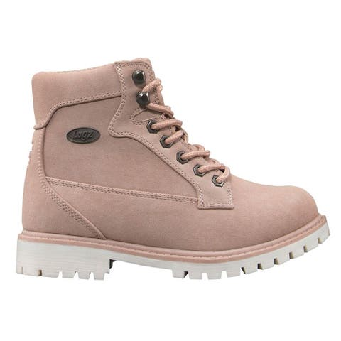 """Lugz Mantle Hi Lace Up Womens Boots Ankle Low Heel 1-2"""" - Pink"""
