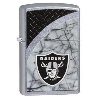 Zippo 29373 Oakland Raiders NFL Street Chrome Finish Lighter
