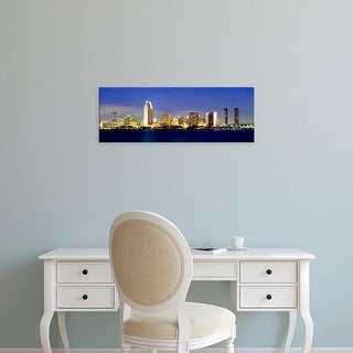 Easy Art Prints John Alves's 'San Diega Skyline at Dusk' Premium Canvas Art