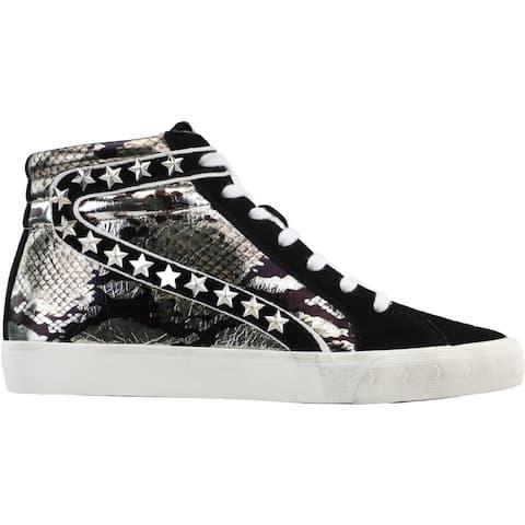 Vintage Havana Rome Snake Print High Womens Sneakers Shoes Casual