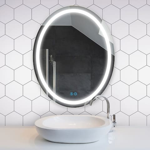 BSLE Wall Mounted Vanity Mirror LED Lighted Bathroom Mirror