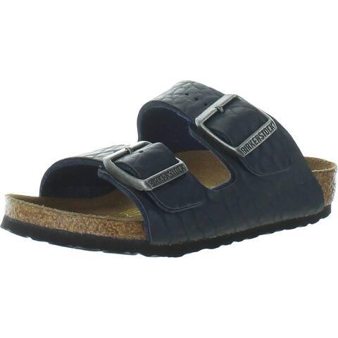 Birkenstock Boys Arizona Footbed Sandals Birko-Flor Slip On - Buffalo Blue - 26