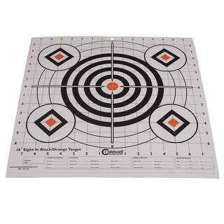 Caldwell 195781 caldwell 195781 sight in target 16 black and orange 10pk