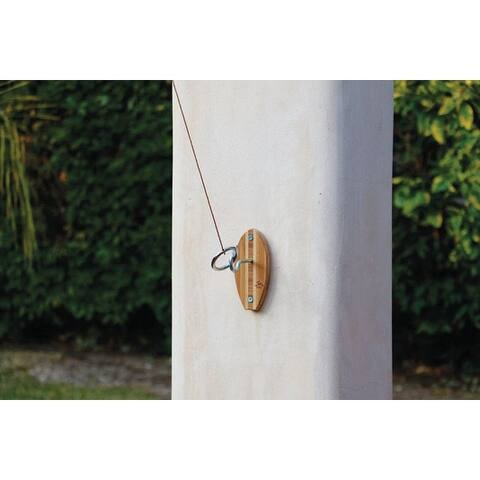 """Mellow Militia 4441 Tiki Toss Hook and Ring Game, Beige, Bamboo - Beige - 1.2""""W x 3.2""""H x 6.6""""L"""