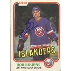 Bob Bourne New York Islanders 1981 Opee Chee Autographed Card This item comes with a certificate o