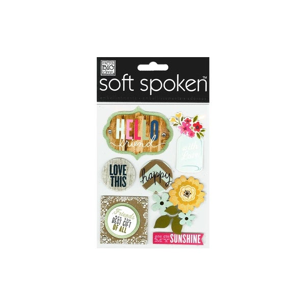 MAMBI Sticker Soft Spoken Hello Friends Jar